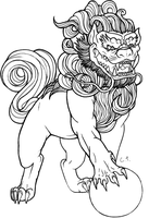 Foo Dog Lineart by ctyler