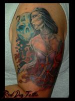 Tim Tattoo 2nd Session by Reddogtattoo