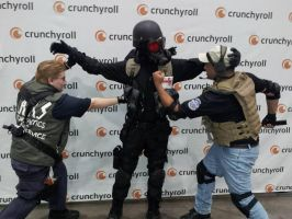 Hunk gets attacked by Parker Luciani and Wesker by W4RH0US3