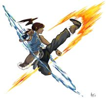 Korra Colored Doodle by Aprilequinox