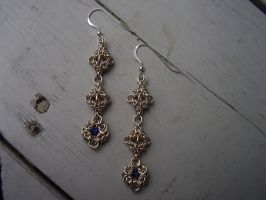 Tripoli and Byzantine earrings by ladyblackmaille