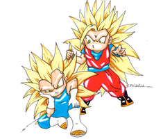 Goku and Vegeta by AVN88