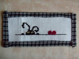 Heartless cross stitch by Nayru25
