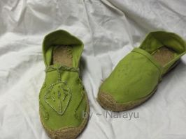 green elven dress shoes by Narayu
