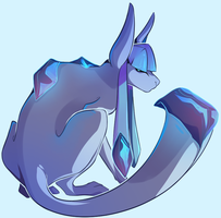 Glaceon by StickFigureQueen