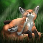 Cuddling foxes by SnarfTheSnarfer