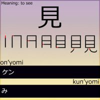 Kanji - to see by LearningJapanese