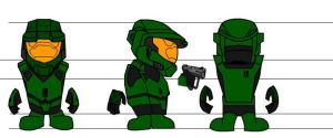 """Master Chief"" Model Sheet by Cellulum2"