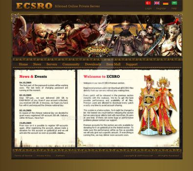 Ecsro Game Server Site by siracel