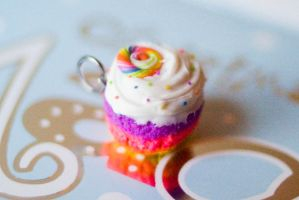 rainbow candy cupcake by PoisonedAppleAcc