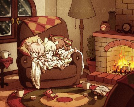 Neapolitan Cozy Fire by celesse