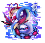-:Milotic and Dragonair:- by zeniper