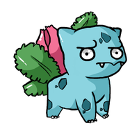 That's an odd Ivysaur... by JellyTheTangrowth