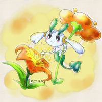 Pokedex Challenge Floette (orange) by Kikulina