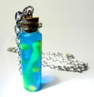 Lava Lamp Bottle Necklace by birdsoup
