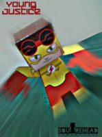 Kid Flash Papercraft by jazzmellon