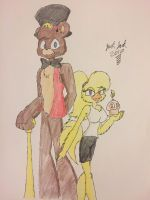 Freddy and Chica (New/Design) by JackJack2017
