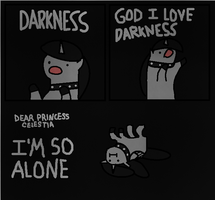 DARKNESS by LittleCloudie