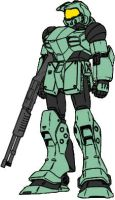Halo-colors Master Chief Mecha by dracostarcloud