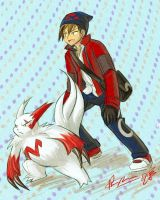 Kai and Zangoose by Meibatsu by Mysterious-Flame