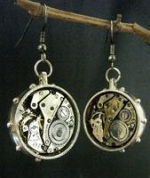 Steampunk Earrings by lilvoodoo