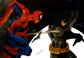 Batman Vs Spiderman by MikeES