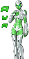 Aya, Green Lantern by Idelacio
