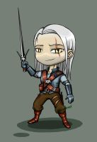 The Witcher - Chibi Geralt by Scooterek