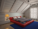 Bedroom interior vray by querion44
