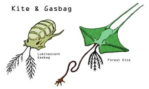 Snaiad: Kite and Gasbag by CarrionTrooper