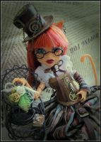 Little steampunk lady by AmeliaMadHatter