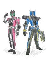 Kamen rider decade and diend by MamamBorneo
