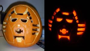 Quintesson face Jack o Lantern by Tutankhamun