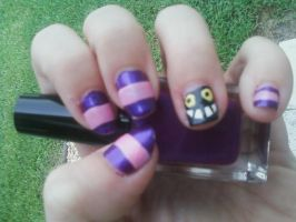 Cheshire Cat Nails by MissDaniLips