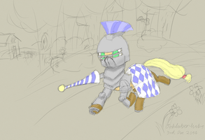 Knight in shining armor by Schluberlubs