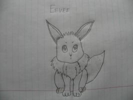 Uncolored Eevee by AGirlWithDreams96