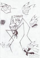 Invader Dib sketches by XxMoonlightWolveXx