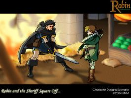 Robin and Sheriff Square Off by MichaelMayne