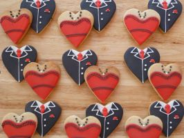 Bride and Groom Biscuits by Rebeckington
