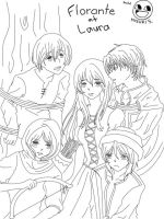 Florante at Laura-outline by misulovesbishies