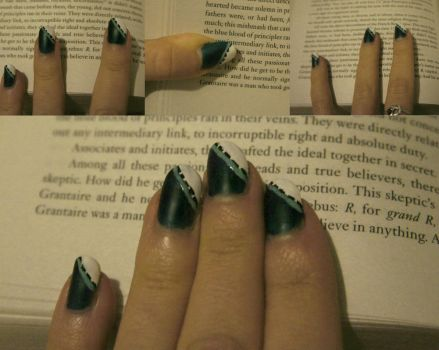 Grantaire Nails by Eternity-Beckons