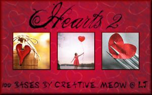 Icon Bases: Hearts 2 by Sardistri
