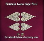 For Sale: Princess Anna Cape Pins by Callesto