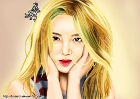 Hyoyeon Digital Painting 38 by BoAism