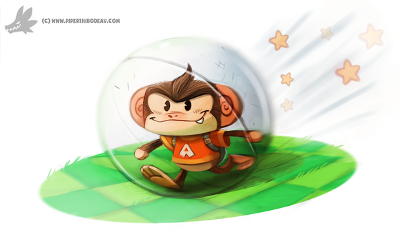 Daily Painting #912 Super Monkey Ball by Cryptid-Creations