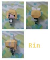 rin vocaloid maid papercraft by chowitsu