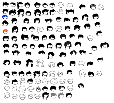 Homestuck Hair Sprite Sheet by blahjerry