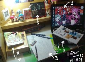My Messy Desk... by Nanao178