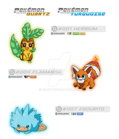 Starters Quartz and Turquoise by pkmqt