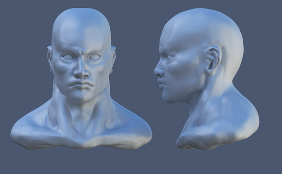 Study of male's head by mino8601